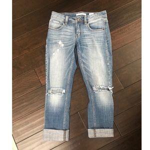Denim - Distressed Boyfriend Jeans